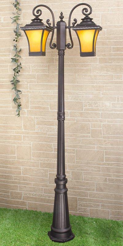 Libra F/2 венге  (арт. GLXT-1408F/2) Электростандарт Светильник на столбеБольшие фонари<br>Цоколь: Е27 Питание: 220 В / 50 Гц Пылевлагозащищенность: IP 44 Мощность: 2 x 60 Вт Размер: 700 х 240 х 2430 мм<br><br>Тип лампы: Накаливания / энергосбережения / светодиодная<br>Тип цоколя: E27<br>Количество ламп: 2<br>Ширина, мм: 240<br>Длина, мм: 700<br>Высота, мм: 2430<br>MAX мощность ламп, Вт: 60