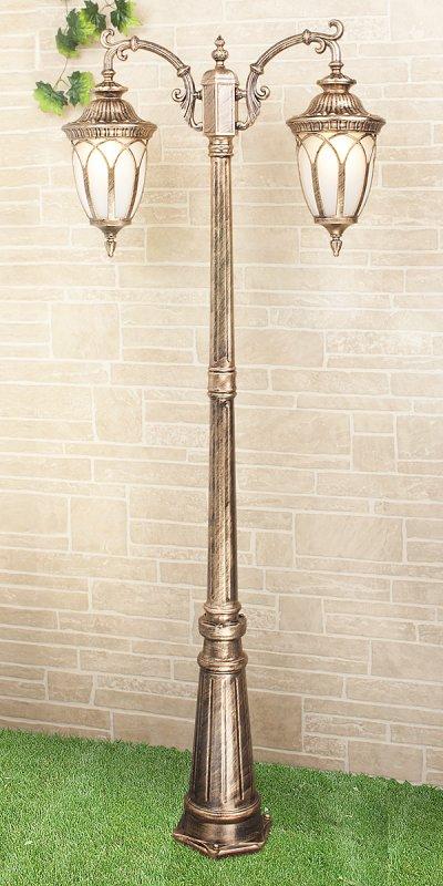Sagitta F/2 черное золото (арт. GLXT-1444F/2) Электростандарт Светильник на столбеБольшие фонари<br>Цоколь: Е27 Питание: 220 В / 50 Гц Пылевлагозащищенность: IP 44 Мощность: 2 x 60 Вт Размер: 800 х 235 х 2250 мм<br><br>Тип лампы: Накаливания / энергосбережения / светодиодная<br>Тип цоколя: E27<br>Количество ламп: 2<br>Ширина, мм: 235<br>Длина, мм: 800<br>Высота, мм: 2250<br>MAX мощность ламп, Вт: 60
