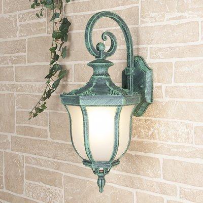 Taurus D малахит (арт. GLXT-1458D) Электростандарт Настенный светильникУличные настенные светильники<br>Цвет: малахит Мощность: 1 x 60 Вт Цоколь: Е27 Питание: 220-240 В / 50 Гц Пылевлагозащита: IP44 Размер: 220 x 260 x 485 мм<br><br>Тип лампы: Накаливания / энергосбережения / светодиодная<br>Тип цоколя: E27<br>Количество ламп: 1<br>MAX мощность ламп, Вт: 60
