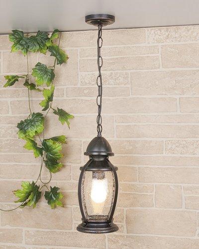 Antares H (GLXT-1474H) черное золото Электростандарт Светильник подвеснойПодвесные<br>Мощность: 60 Вт Цоколь: Е27 Питание: 220-240 В / 50 Гц Пылевлагозащищенность: IP 44 Размер: 160 х 160 х 1070 мм<br>Настенный светильник предназначен не только для внутреннего использования, но и для освещения садово-парковых зон вокруг дома, так как высокая степень пылевлагозащищенности позволяет использовать его под открытым небом.<br>Корпус светильника изготовлен из сплава алюминия с кремнием, что делает его легким и прочным, устойчивым к механическим воздействиям. Специальная порошковая окраска корпуса, наносимая в несколько слоев, позволяет добиться эффекта состаренного металла.<br>Для плафона использовано стекло, изготовленное вручную по технологии pulegoso. Пузырьки воздуха внутри стекла придают светильнику особое, неповторимое, очарование!<br><br>Диаметр, мм мм: 160<br>Высота, мм: 1070