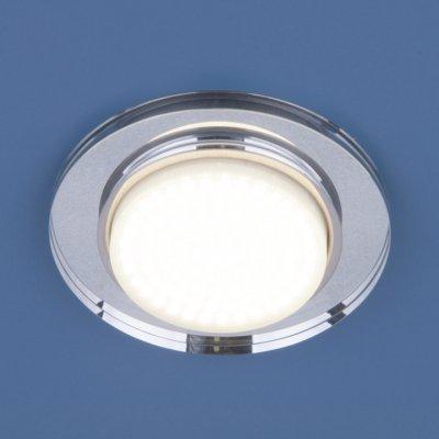 8061 GX53 SL  зеркальный/серебро Электростандарт Точечный светильникКруглые встраиваемые светильники<br>Лампа:  GX53 max 13 Вт Диаметр: ? 120 мм Высота внутренней части: ? 20 мм Высота внешней части: ? 10 мм Монтажное отверстие: ? 80 мм Гарантия: 2 года<br><br>Тип цоколя: GX53<br>Диаметр, мм мм: 120<br>Диаметр врезного отверстия, мм: 80<br>Высота, мм: 10<br>MAX мощность ламп, Вт: 13