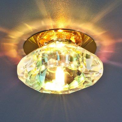 8016 G4 GD/COLORFUL (золото / перламутр) Электростандарт Точечный светильникКруглые<br>Лампа: G4 max 20 Вт Диаметр: ? 93 мм Высота внутренней части: ? 25 мм Высота внешней части: ? 38 мм Монтажное отверстие: ? 50 мм Гарантия: 2 года<br><br>S освещ. до, м2: 2<br>Тип лампы: галогенная<br>Тип цоколя: G9<br>Количество ламп: 1<br>MAX мощность ламп, Вт: 40<br>Диаметр, мм мм: 105<br>Диаметр врезного отверстия, мм: 50<br>Оттенок (цвет): перламутр<br>Цвет арматуры: Золотой