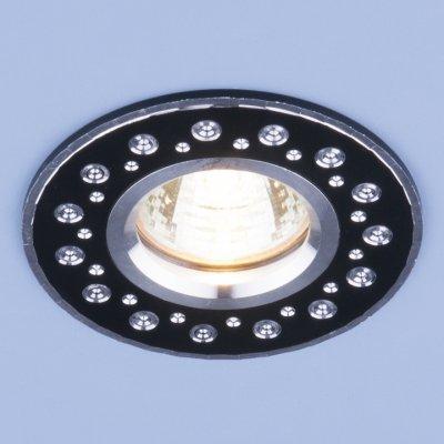 2008 MR16 BK черный Электростандарт Алюминиевый точечный светильникКруглые встраиваемые светильники<br>Светильника выполнен из литого под давления алюминия. Строгий классический дизайн позволяет светильнику лаконично смотреться в любом интерьере.<br> Лампа: MR16 G5.3 max, 50 Вт Диаметр: ? 95 мм Высота внутренней части: ? 18 мм Высота внешней части: ? 3 мм Монтажное отверстие: ? 60 мм Гарантия: 2 года Корпус из алюминия<br><br>Тип цоколя: gu5.3<br>Диаметр, мм мм: 95<br>Диаметр врезного отверстия, мм: 60<br>MAX мощность ламп, Вт: 50