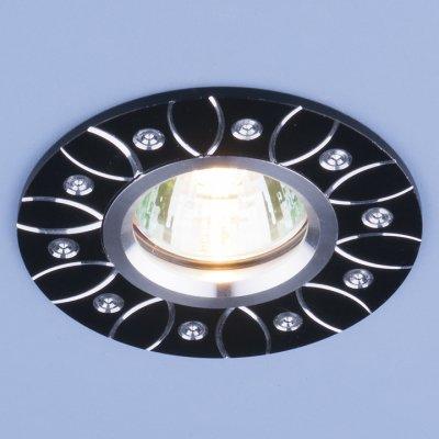 2007 MR16 BK черный Электростандарт Алюминиевый точечный светильникКруглые<br>Светильника выполнен из литого под давления алюминия. Строгий классический дизайн позволяет светильнику лаконично смотреться в любом интерьере.<br> Лампа: MR16 G5.3 max, 50 Вт Диаметр: ? 95 мм Высота внутренней части: ? 18 мм Высота внешней части: ? 3 мм Монтажное отверстие: ? 60 мм Гарантия: 2 года Корпус из алюминия<br><br>Тип цоколя: gu5.3<br>Диаметр, мм мм: 95<br>Диаметр врезного отверстия, мм: 60<br>MAX мощность ламп, Вт: 50