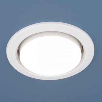 1035 GX53 WH белый Электростандарт Точечный светильникКруглые встраиваемые светильники<br>Лампа: GX53 max 13 Вт Диаметр: ? 100 мм Высота внутренней части: ? 30 мм Высота внешней части: ? 10 мм Монтажное отверстие: ? 80 мм Гарантия: 2 года<br><br>Тип цоколя: GX53<br>Диаметр, мм мм: 100<br>Диаметр врезного отверстия, мм: 80