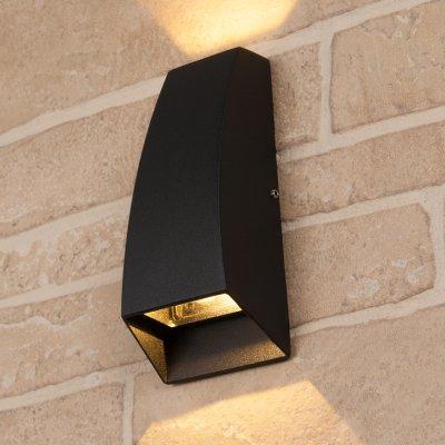 Настенный уличный светильник Электростандарт Techno 1016 черный 1016 TECHNO черный фото
