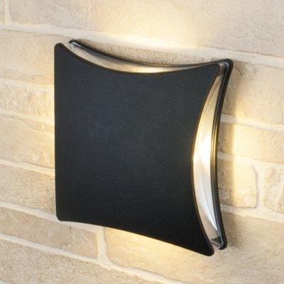 Настенный уличный светильник Elektrostandard Techno 1014 черныйУличные настенные светильники<br>Мощность: 4 Вт Световой поток: 200 лм Cвет: теплый белый 4200 К Срок службы светодиодов: 50 000 ч Источник света: 4 светодиода Bridgelux Ударопрочность: 0,7 НМ Размер: 205 x 205 x 74 мм Питание: 220 В, 50 Гц Степень пылевлагозащищенности: IР54 Температура эксплуатации: –20° ... +40° С Материал корпуса: алюминиевый сплав Материал рассеивателя: акрил<br><br>Цветовая t, К: 4200<br>Тип лампы: LED<br>Ширина, мм: 205<br>Длина, мм: 205<br>Высота, мм: 74<br>MAX мощность ламп, Вт: 4