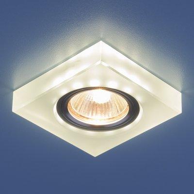 Точечный светильник со светодиодами Elektrostandard 6063 MR16 WH белыйКвадратные встраиваемые светильники<br>Лампа: MR16 G5.3, max 50 Вт + LED 3 Вт Температура цвета LED: 4200K (теплый белый) Размеры: 87 х 87 мм Высота внутренней части: ? 20 мм Высота внешней части: ? 13 мм Монтажное отверстие: ? 59 мм<br><br>Тип цоколя: gu5.3<br>Ширина, мм: 87<br>Диаметр врезного отверстия, мм: 59<br>Длина, мм: 87<br>MAX мощность ламп, Вт: 50