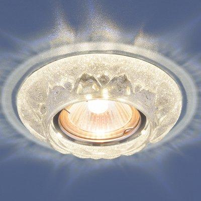 Точечный светильник со светодиодами Elektrostandard 7249 MR16 SL серебряный блескКруглые встраиваемые светильники<br>Лампа: MR16 G5.3, max 50 Вт + LED 3 Вт Температура цвета LED: 4200K (теплый белый) Диаметр: ? 105 мм Высота внутренней части: ? 21 мм Высота внешней части: ? 14 мм Монтажное отверстие: ? 59 мм<br><br>Тип лампы: галогенная/LED<br>Тип цоколя: gu5.3<br>Диаметр, мм мм: 105<br>Диаметр врезного отверстия, мм: 59<br>Высота, мм: 14<br>MAX мощность ламп, Вт: 50