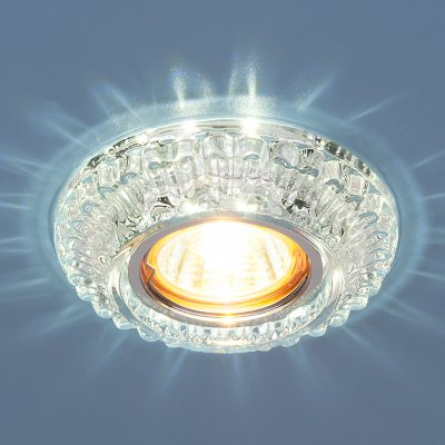 7247 MR16 CL прозрачный Электростандарт Точечный светильник со светодиодамиКруглые встраиваемые светильники<br>Лампа: MR16 G5.3, max 50 Вт + LED 3 Вт Температура цвета LED: 4200K (теплый белый) Диаметр: ? 107 мм Высота внутренней части: ? 21 мм Высота внешней части: ? 15 мм Монтажное отверстие: ? 59 мм<br><br>Тип цоколя: gu5.3<br>Диаметр, мм мм: 107<br>Диаметр врезного отверстия, мм: 59<br>MAX мощность ламп, Вт: 50