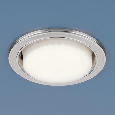 Точечный светильник Электростандарт 1036 GX53 WH/SL белый/сереброкруглые встраиваемые светильники<br>Лампа: GX53 max 13 Вт Диаметр: ? 105 мм Высота внутренней части: ? 35 мм Высота внешней части: ? 5 мм Монтажное отверстие: ? 90 мм
