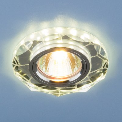 Встраиваемый потолочный светильник со светодиодной подсветкой Электростандарт 2120 MR16 SL зеркальный/сереброкруглые встраиваемые светильники<br>Лампа: MR16 G5.3 max, 50 Вт Диаметр: ? 98 мм Высота внутренней части: ? 26 мм Высота внешней части: ? 11 мм Монтажное отверстие: ? 60 мм Гарантия: 2 года