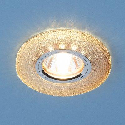 2130 MR16 GС тонированный Электростандарт Встраиваемый потолочный светильник со светодиодной подсветкойКруглые<br>Лампа: MR16 G5.3, max 50 Вт + LED 3 Вт Температура цвета LED: 4200K (теплый белый) Диаметр: ? 100 мм Высота внутренней части: ? 13 мм Высота внешней части: ? 12 мм Монтажное отверстие: ? 60 мм<br><br>Тип цоколя: gu5.3<br>Диаметр, мм мм: 100<br>Диаметр врезного отверстия, мм: 60<br>MAX мощность ламп, Вт: 50