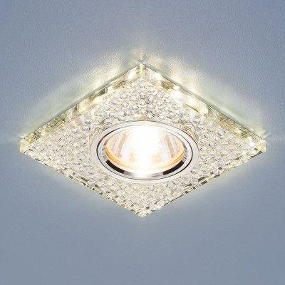 2150 MR16 SL зеркальный/серебро Электростандарт Встраиваемый потолочный светильник со светодиодной подсветкойКвадратные<br>Лампа: MR16 G5.3, max 50 Вт + LED 3 Вт Температура цвета LED: 4200K (теплый белый) Размер: 95x95 мм Высота внутренней части: ? 13 мм Высота внешней части: ? 25 мм Монтажное отверстие: ? 65 мм<br><br>Тип цоколя: gu5.3<br>Ширина, мм: 95<br>Диаметр врезного отверстия, мм: 65<br>Длина, мм: 95<br>MAX мощность ламп, Вт: 50