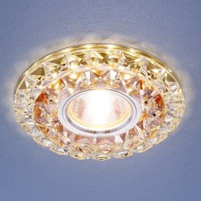 Встраиваемый потолочный светильник со светодиодной подсветкой Электростандарт 2170 MR16 GC CL тонированный прозрачный 2170 MR16 GC/CL тонированный/прозрачный фото