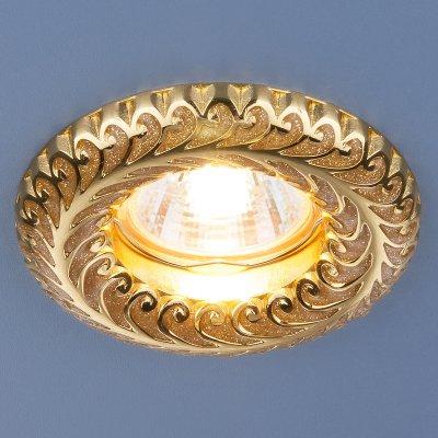 7001 MR16 GD золотой блеск/золото Электростандарт Точечный светильникКруглые встраиваемые светильники<br>Лампа: MR16 G5.3 max, 50 Вт Диаметр: ? 98 мм Высота внутренней части: ? 26 мм Высота внешней части: ? 11 мм Монтажное отверстие: ? 60 мм Гарантия: 2 года<br><br>Тип цоколя: gu5.3<br>Диаметр, мм мм: 98<br>Диаметр врезного отверстия, мм: 60<br>MAX мощность ламп, Вт: 50