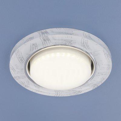 Купить 1062 GX53 WH/SL белый/серебро Электростандарт Встраиваемый точечный светильник, Китай