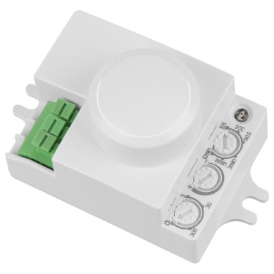 SNS-M-06 Электростандарт Микроволновый датчик движенияДатчики движения<br>Максимальная мощность нагрузки: 1200 Вт Угол охвата: 360° Дальность действия: от 1 до 8 м Рекомендуемая высота монтажа: от 1,5 до 3,5 м Таймер отключения: от 10 сек. до 12 мин. Диапазон освещенности: от 3 до 2000 люкс Рабочая температура: от -20° до 40° C Пылевлагозащищенность: IP20 Источник питания: 220 В / 50 Гц Размер: 70 х 40 х 40 мм<br><br> <br><br> <br><br> Микроволновый датчик Инфракрасный датчик <br><br> <br><br><br><br><br><br><br><br>Принцип работы датчика<br>Колебания электромагнитных волнРеагирует на малейшее колебание электромагнитных волн<br>Инфракрасное излучение объектовРеагирует на инфракрасное (тепловое) излучение объектов<br><br><br>Режим работы датчика<br>АктивныйИзлучает волну и принимает отраженный сигнал<br>ПассивныйРегистрирует собственное излучение объекта<br><br><br>Возможности<br>Обнаруживает объекты за некоторыми типами преград<br>Обнаруживает объекты имеющие собственную температуру <br><br><br>Точность срабатывания<br>Температура окружающей среды не влияет на работу<br>Точность работы снижается при прямом солнечном свете или осадков <br><br><br>Размеры<br>Более компактен<br>Размер датчика на порядок больше <br><br><br>Возможности монтажа<br>Возможен скрытый монтажНапример, под натяжным потолком<br>Только открытая установка <br><br><br><br><br>Если вам принципиальны компактные размеры, возможность скрытой установки и высокая точность датчика, то вам с большей вероятностью, подойдет микроволновый датчик. С другой стороны для управления освещением, например, в коридоре может подойти обычный, инфракрасный датчик движения.<br>