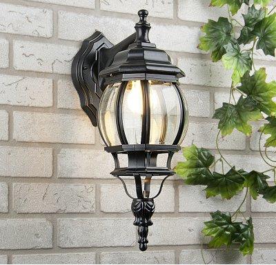 GL 1001D черный Электростандарт Светильник настенныйНастенные<br>Мощность: 100 Вт Цоколь: Е27 Питание: 220-240 В / 50 Гц Защита: IP 33 Размер: 230 х 253 х 457 мм Упаковка: 6 шт.<br><br>Тип лампы: Накаливания / энергосбережения / светодиодная<br>Тип цоколя: E27<br>Количество ламп: 1<br>Ширина, мм: 160<br>Расстояние от стены, мм: 200<br>Высота, мм: 450<br>MAX мощность ламп, Вт: 60