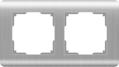 Рамка на 2 поста (серебряный) WL12-Frame-02 Werkel WL12-Frame-02 серебряный фото