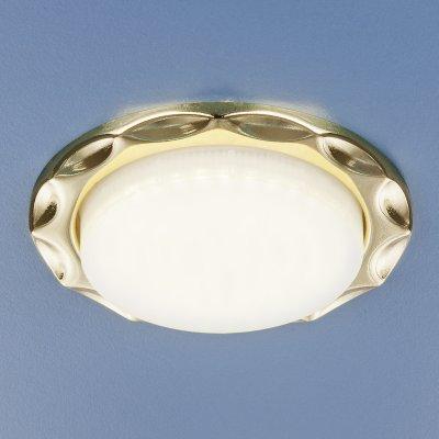 Встраиваемый точечный светильник Электростандарт 1064 GX53 GD золотокруглые встраиваемые светильники<br>Лампа: GX53, max 13 Вт* Диаметр: ? 102 мм  Высота внутренней части: 20 мм  Высота внешней части: 19 мм  Монтажное отверстие: ? 80 мм  Гарантия: 2 года Лампа не входит в комплект светильника.