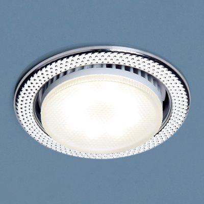 1066 GX53 CH хром Электростандарт Встраиваемый точечный светильникКруглые<br>Лампа: GX53, max 13 Вт* Диаметр: ? 107 мм  Высота внутренней части: 36 мм  Высота внешней части: 4 мм  Монтажное отверстие: ? 86 мм  Гарантия: 2 года Лампа не входит в комплект светильника.<br><br>Тип цоколя: GX53<br>Диаметр, мм мм: 107<br>Диаметр врезного отверстия, мм: 86