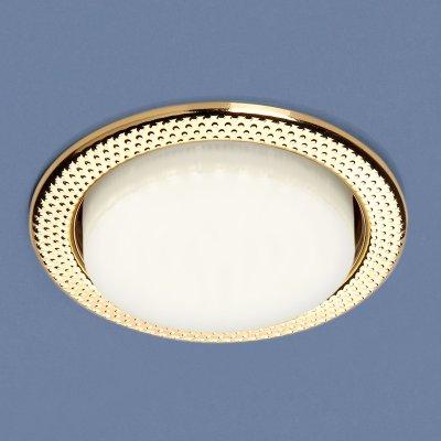 1066 GX53 GD золото Электростандарт Встраиваемый точечный светильникКруглые встраиваемые светильники<br>Лампа: GX53, max 13 Вт* Диаметр: ? 107 мм  Высота внутренней части: 36 мм  Высота внешней части: 4 мм  Монтажное отверстие: ? 86 мм  Гарантия: 2 года Лампа не входит в комплект светильника.<br><br>Тип цоколя: GX53<br>Диаметр, мм мм: 107<br>Диаметр врезного отверстия, мм: 86