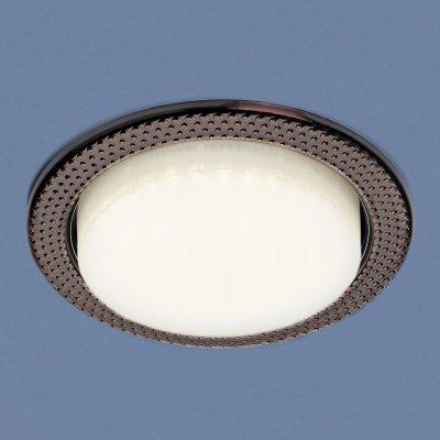 1066 GX53 SB бронза Электростандарт Встраиваемый точечный светильникКруглые<br>Лампа: GX53, max 13 Вт* Диаметр: ? 107 мм  Высота внутренней части: 36 мм  Высота внешней части: 4 мм  Монтажное отверстие: ? 86 мм  Гарантия: 2 года Лампа не входит в комплект светильника.<br><br>Тип цоколя: GX53<br>Диаметр, мм мм: 107<br>Диаметр врезного отверстия, мм: 86