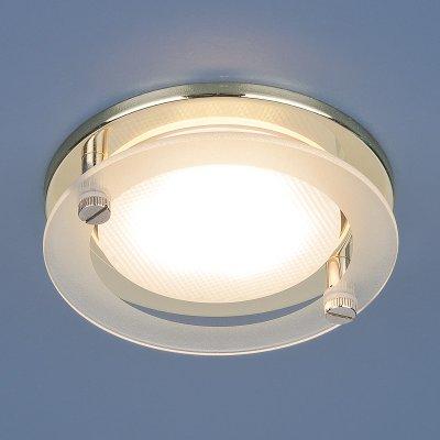 1068 GX53 GD золото Электростандарт Встраиваемый точечный светильникКруглые<br>Лампа: GX53, max 13 Вт* Диаметр: ? 108 мм  Высота внутренней части: 42 мм  Высота внешней части: 25 мм  Монтажное отверстие: ? 84 мм  Гарантия: 2 года Лампа не входит в комплект светильника.<br><br>Тип цоколя: GX53<br>Диаметр, мм мм: 108<br>Диаметр врезного отверстия, мм: 84