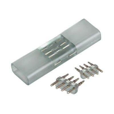Переходник для ленты 220V 5050 RGB Электростандарт Аксессуары для светодиодной лентыLED-коннекторы<br>Упаковка: 10 шт.<br>