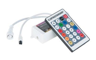 LSC DC12 RW IP20 Электростандарт Контроллер для светодиодной ленты Бегущая волнаКонтроллеры<br>Технические характеристики контроллера Питание:  DC 12 В Максимальная мощность: 72 Вт Количество переключаемых программ: 200 шт. Макс. количество светодиодов в цепи 1000 шт. Управляющий сигнал: SPI протокол Пылевлагозащищенность: IP20<br>Технические характеристики ПДУ Радиус действия: 10 м (при прямой видимости) Передача сигнала: инфракрасный порт Элементы питания: CR2025, 3V Пылевлагозащищенность: IP40<br><br>Ширина, мм: 35<br>Длина, мм: 22<br>Высота, мм: 20<br>MAX мощность ламп, Вт: 72