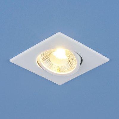Точечный светодиодный светильник Электростандарт DSS001 6W 4200Kсветодиодные квадратные встраиваемые светильники<br>Мощность: 6 Вт Свет: 4200 K теплый белый Световой поток: 480 лм Угол рассеивания: 60° Питание: 100 - 240 В 50 Гц Срок службы светодиода: 50 000 ч Размеры: 88 х 88 мм Высота внутренней части: 40 мм  Высота внешней части: 3 мм  Монтажное отверстие: ? 70 мм  Гарантия: 2 года