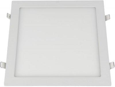DLS003 24W 4200K Электростандарт Встраиваемый потолочный светодиодный светильникКвадратные LED<br>Мощность: 24 Вт Свет: 4200K Световой поток: 2040 лм Количество светодиодов: 120 шт. SMD Угол рассеивания света: 110° Питание: 100 – 240 В / 50 Гц Срок службы: 50 000 ч Рабочий диапазон температуры: -20 ... +50 °С Диаметр монтажного отверстия: 275 х 275 мм Размер светильника: 295 х 295 x 35 мм Пылевлагозащищенность: IP20<br><br>Цветовая t, К: 4200<br>Тип лампы: LED<br>Ширина, мм: 295<br>Диаметр врезного отверстия, мм: 275 x 275<br>Длина, мм: 295<br>MAX мощность ламп, Вт: 24