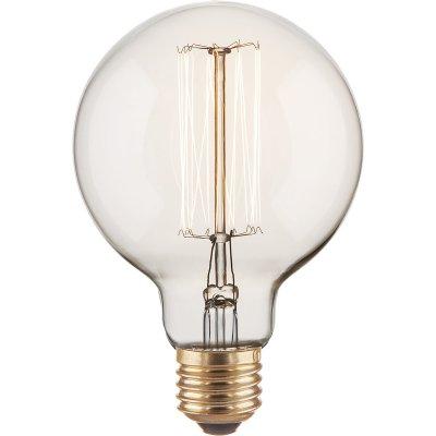 G95 60W Электростандарт Ретро лампа ЭдисонаЛампы накаливания ретро стиля<br>Мощность: 60 Вт Питание: 220 В / 50 Гц Световой поток: 340 лм Срок службы: 2500 ч  Гарантия: 6 месяцев Размеры: ?95 х 140 мм<br>