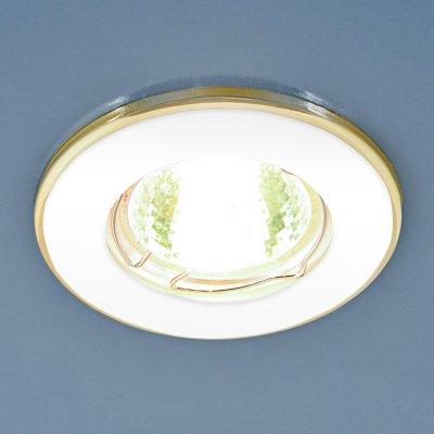 7002 MR16 WH/GD белый/золото Электростандарт Точечный светильникКруглые<br>Лампа: MR16 G5.3 max 50 Вт Диаметр: ? 80 мм Высота внутренней части: ? 23 мм Высота внешней части: ? 7 мм Монтажное отверстие: ? 55 мм Гарантия: 2 года<br><br>Тип цоколя: gu5.3<br>Диаметр, мм мм: 80<br>Диаметр врезного отверстия, мм: 55<br>MAX мощность ламп, Вт: 50