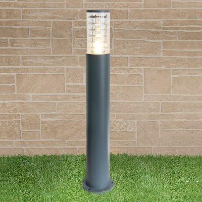 1507 TECHNO silver серый Электростандарт Светильник на столбеУличные светильники-столбы<br>Мощность: max 20 Вт Цоколь: Е27 Питание: 220 В, 50 Гц Пылевлагозащищенность: IР54 Размер основания: ? 155 мм Размеры: ? 110 х 800 мм Рабочая температура: –40° ... +50° С Материал: алюминиевый сплав Срок службы более: 10 лет Гарантия:12 месяцев<br>