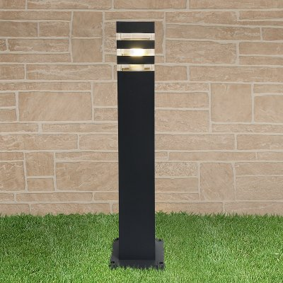 1550 TECHNO black черный Электростандарт Светильник на столбеОдиночные столбы<br>Мощность: max 20 Вт Цоколь: Е27 Питание: 220 В, 50 Гц Пылевлагозащищенность: IР54 Размер основания: 140 х 140 мм Размеры: 90 х 90 х 600 мм Рабочая температура: –40° ... +50° С Материал: алюминиевый сплав Срок службы более: 10 лет Гарантия:12 месяцев<br>