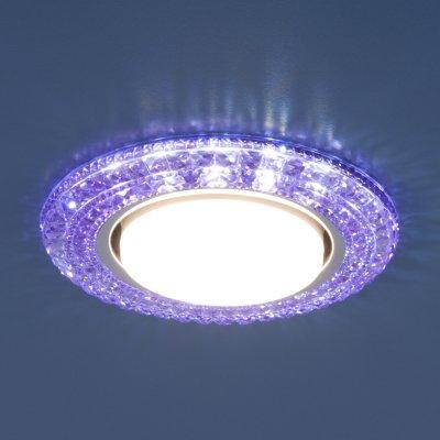 3030 GX53 VL фиолетовый Электростандарт Точечный светильник со светодиодамиКруглые встраиваемые светильники<br>Лампа: GX53, max 13 Вт* + LED 4 Вт Диаметр: ? 135 мм  Высота внутренней части: ? 29 мм Высота внешней части: ? 11 мм Монтажное отверстие: ? 82 мм Гарантия: 2 года *Лампа в комплект не входит.<br><br>Тип цоколя: GX53<br>Диаметр, мм мм: 135<br>Диаметр врезного отверстия, мм: 82