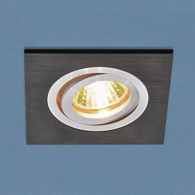 1051/1 BK черный Электростандарт Точечный светильникКвадратные встраиваемые светильники<br>Лампа: MR16 G5.3 max 50 Вт Размер: 93 х 93 мм Высота внутренней части: ? 25 мм Высота внешней части: ? 3 мм Монтажное отверстие: 75 х 75 мм Гарантия: 2 года Светильник имеет поворотный механизм Корпус из алюминия<br><br>Тип цоколя: gu5.3<br>Ширина, мм: 93<br>Диаметр врезного отверстия, мм: 75 x 75<br>Длина, мм: 93<br>MAX мощность ламп, Вт: 50
