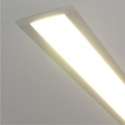 ССП встраиваемый 21W 1500Lm 128см Электростандарт Профильный светодиодный светильникВстраиваемые профильные светильники<br>Представляем Вашему вниманию новую серию встраиваемых светодиодных светильников. Светильники применяются для светового оформления бытовых и общественных помещений. Строгий стиль функциональность светильников позволяют использовать их в интерьерах, выполненных в различных стилях: от классических до ультрасовременных. Корпус светильника выполнен из алюминиевого анодированного профиля, который не подвержен коррозии и стоек к механическим воздействиям. В качестве источника света используются модули с ультраяркими SMD светодиодами, отличительными особенностями которых являются: долгий срок службы (до 100 000 ч), высокая энергоэффективность, индекс цветопередачи 82%. Равномерное распределение света обеспечивает гибкий Итальянский акриловый рассеиватель  Altuglas PMMA Matt.  Обращаем внимание на то, что наша компания, кроме стандартных решений, предлагает услуги по изготовлению светильников по Вашим индивидуальным проектам. Размер светильника: 55 х 67 х 1300  мм Монтажное отверстие: 35 х 1280  мм Мощность: 21 Вт Световой поток: 1500 лм Угол свечения: 93° КПД трансформатора: х 0,9 Питание: 220 В, 50 Гц<br>