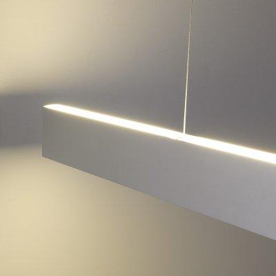 ССП подвесной двусторонний 35W 2500Lm 128см Электростандарт Профильный светодиодный светильникПодвесные профильные светильники<br>Представляем Вашему вниманию новую серию встраиваемых светодиодных светильников. Светильники применяются для светового оформления бытовых и общественных помещений. Строгий стиль функциональность светильников позволяют использовать их в интерьерах, выполненных в различных стилях: от классических до ультрасовременных. Корпус светильника выполнен из алюминиевого анодированного профиля, который не подвержен коррозии и стоек к механическим воздействиям. В качестве источника света используются модули с ультраяркими SMD светодиодами, отличительными особенностями которых являются: долгий срок службы (до 100 000 ч), высокая энергоэффективность, индекс цветопередачи 82%. Равномерное распределение света обеспечивает гибкий Итальянский акриловый рассеиватель  Altuglas PMMA Matt.  Обращаем внимание на то, что наша компания, кроме стандартных решений, предлагает услуги по изготовлению светильников по Вашим индивидуальным проектам. Размер профиля: 80 х 35 х 1280 мм Мощность: 35 Вт Световой поток: 2500 лм Угол свечения: 93° КПД трансформатора: 0,9 Питание: 220 В, 50 Гц Комплектация: комплект крепления с тросом: 2 шт., провод сетевой: 3 м<br>