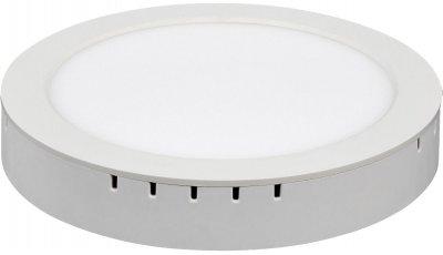 DLR020 18W 4200K Электростандарт Накладной/встраиваемый потолочный светодиодный светильникСветодиодные круглые светильники<br>Мощность: 18 Вт Свет: 4200K Световой поток: 1530 лм Количество светодиодов: 90 шт. SMD Угол рассеивания света: 120° Питание: 180 – 240 В / 50 Гц Срок службы: 50 000 ч Рабочий диапазон температуры: -20 ... +60 °С Диаметр монтажного отверстия: ? 205 мм Размер светильника: ? 225 x 38 мм Пылевлагозащищенность: IP22<br><br>Цветовая t, К: 4200<br>Тип лампы: LED<br>Диаметр, мм мм: 225<br>Диаметр врезного отверстия, мм: 205<br>MAX мощность ламп, Вт: 18