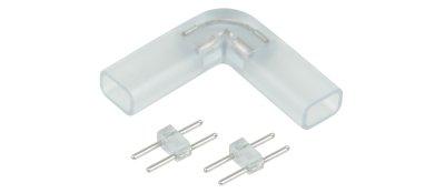 Переходник для ленты угловой 220V 3528 Электростандарт Аксессуары для светодиодной лентыLED-коннекторы<br>Упаковка: 10 шт.<br>