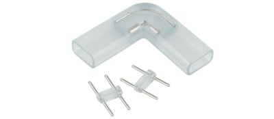 Переходник для ленты угловой 220V 5050 Электростандарт Аксессуары для светодиодной лентыКоннекторы светодиодной ленты<br>Упаковка: 10 шт.<br>