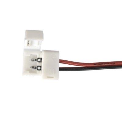 Коннектор для одноцветной светодиодной ленты 3528 гибкий одност. Электростандарт Аксессуары для светодиодной лентыКоннекторы светодиодной ленты<br>Упаковка 10 шт.<br>