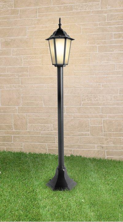 GL 1014F черный Электростандарт Светильник на столбеУличные светильники-столбы<br>Размер: 200 ? 200 ? 1200 мм Мощность: 100 Вт  Цоколь: Е27 Питание: 220-240 В / 50 Гц Срок службы: 10 лет Гарантийный срок: 36 месяцев<br><br>Тип лампы: Накаливания / энергосбережения / светодиодная<br>Тип цоколя: E27<br>Количество ламп: 1<br>MAX мощность ламп, Вт: 100