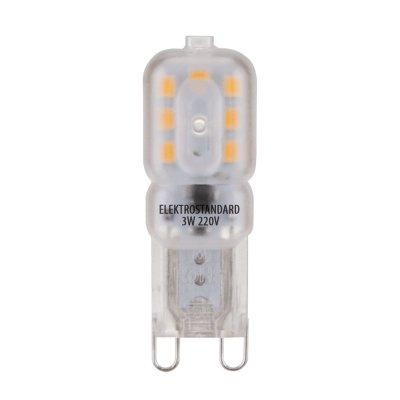 G9 LED 3W 220V 3300K Электростандарт Лампа светодиоднаяКапсульные G9 220v<br>Мощность: 3 Вт Температура света: 3300 K Размер: ? 15 х 47 мм Световой поток: 255 лм Количество светодиодов: 14 SMD LED Питание: АС 220 В / 50 Гц Цоколь: G9 Ресурс: 50 000 ч<br>
