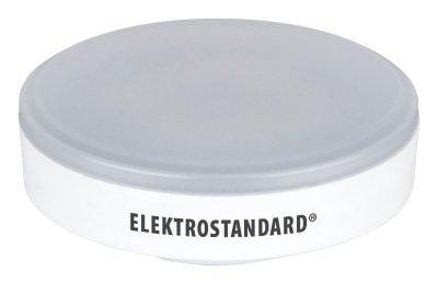 GX53 LED PC 5W 4200K Электростандарт Лампа светодиоднаяСветодиодные лампы gx 53<br>Мощность: 5 Вт Цвет: 4200K Цоколь: GX53 Световой поток: 550 лм Размер: ? 75 x 29 мм Питание: 220 В / 50 Гц Ресурс: 50 000 ч<br><br>Цветовая t, К: CW - холодный белый 4000 К (4200)<br>Тип лампы: LED<br>Тип цоколя: GX53<br>MAX мощность ламп, Вт: 5