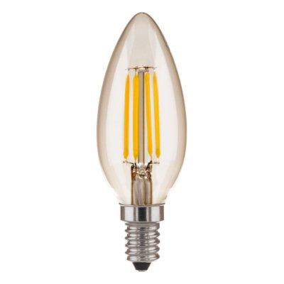 Свеча CD F 5W 4200K E14 Электростандарт Лампа светодиоднаяВ виде свечи<br>Мощность: 5 Вт Температура света: 4200 K белый свет Размер: ? 35 x 100 мм Световой поток: 550 лм Питание: 220 В / 50 Гц Цоколь: E14 Ресурс: 50 000 ч<br><br>Цветовая t, К: CW - холодный белый 4000 К (4200)<br>Тип лампы: LED<br>Тип цоколя: E14<br>MAX мощность ламп, Вт: 5
