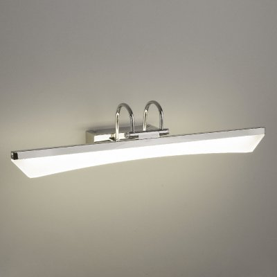 Selenga LED 7W хром Электростандарт Настенный светодиодный светильникДля картин<br>Selenga – это оригинальный светодиодный светильник для акцентного освещения.  В нем сочетаются креативный дизайн и современные технологии. За массивным акриловым рассеивателем  находятся ультраяркие SMD светодиоды, а стальной хромированный корпус оснащен поворотным механизмом. Это делает светильник Selenga не только стильным, но и функциональным элементом декора. Акрил, из которого изготовлен рассеиватель, не меняет цвет и не деформируется со временем, а гальваническое покрытие корпуса делает его устойчивым к механическим и химическим воздействиям.  Светильник Selenga можно использовать для подсветки картин, зеркал или других предметов интерьера. Идеальным окружением для него послужит помещение в современном стиле с элементами Techno или High Tech.<br> Мощность LED: 7 Вт Световой поток: 420 лм Свет: 4000 K белый Источник света: 35 SMD LED Энергоэффективность: до 95% Срок службы LED: 50 000 ч. Размеры: 550 х 120 х 130 мм Пылевлагозащита: IР20<br><br>Цветовая t, К: 4000<br>Тип лампы: LED<br>Тип цоколя: LED<br>Ширина, мм: 550<br>Расстояние от стены, мм: 130<br>Высота, мм: 120<br>MAX мощность ламп, Вт: 7